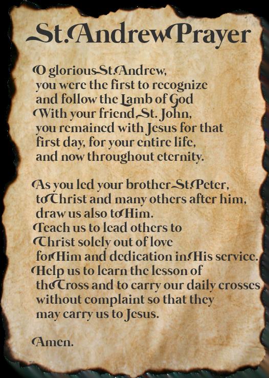 St Andrew Prayer