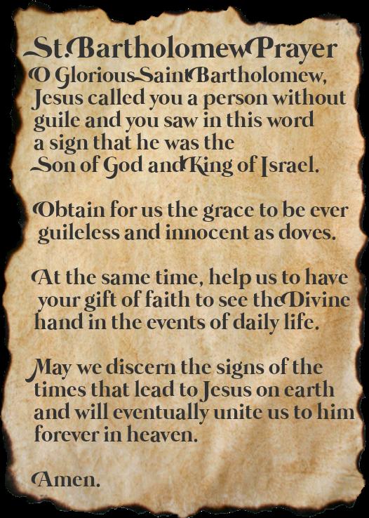 St. Batholomew Prayer
