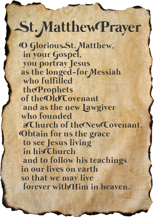 St. Matthew Prayer