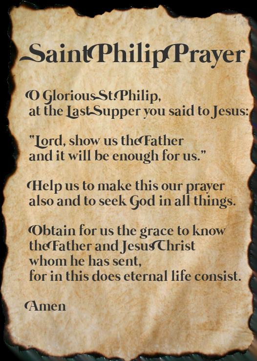 Saint Philip Prayer