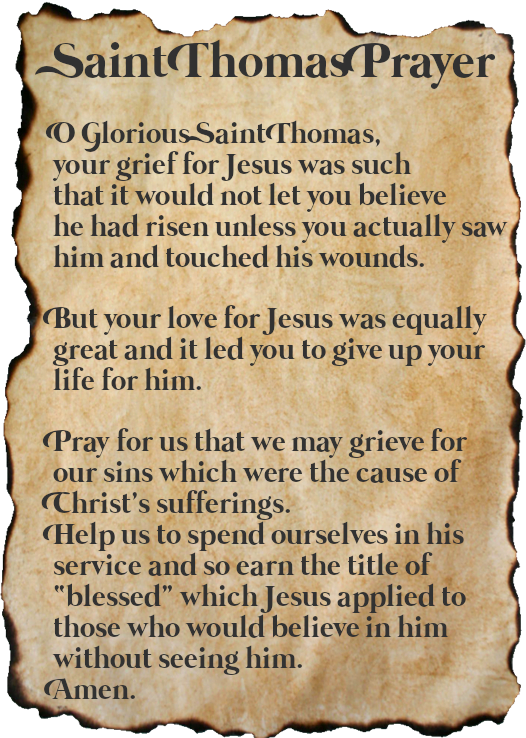 Saint Thomas Prayer